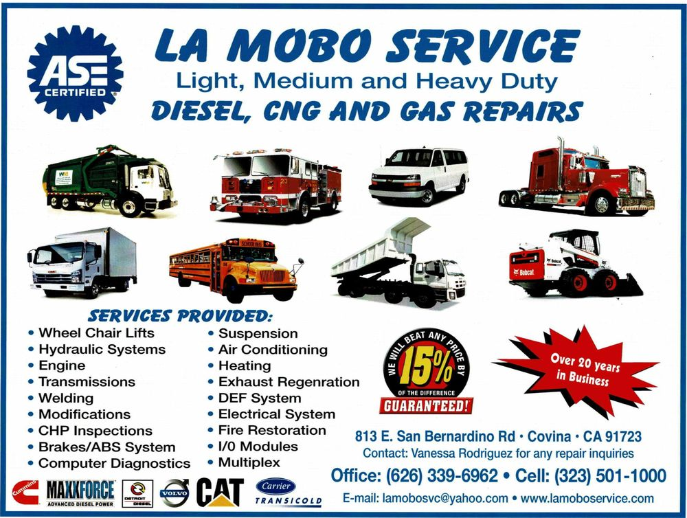 La Mobo Bus Service - 27 Photos - Commercial Truck Repair