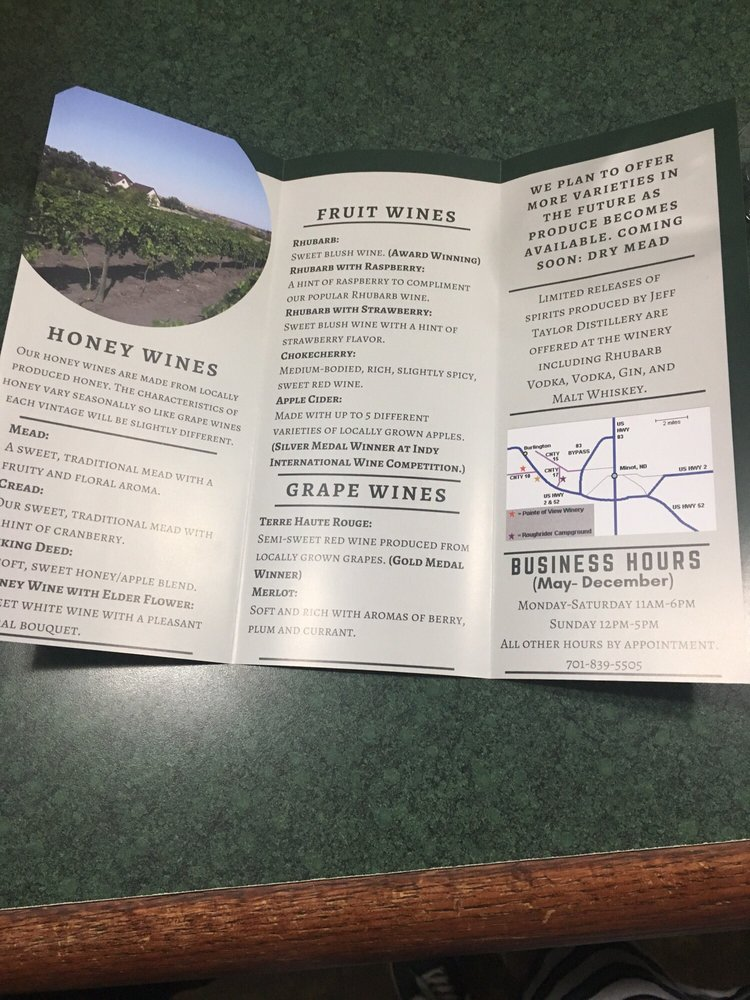 Pointe Of View Winery: 1801 80th St NW, Burlington, ND