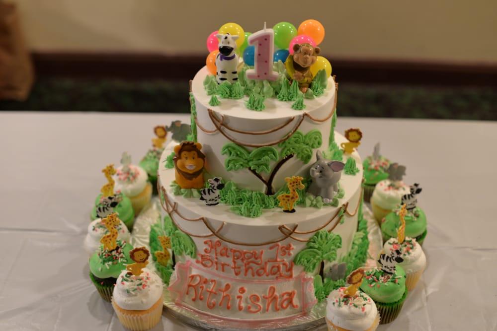 Safari Themed 1st Birthday Cake Yelp