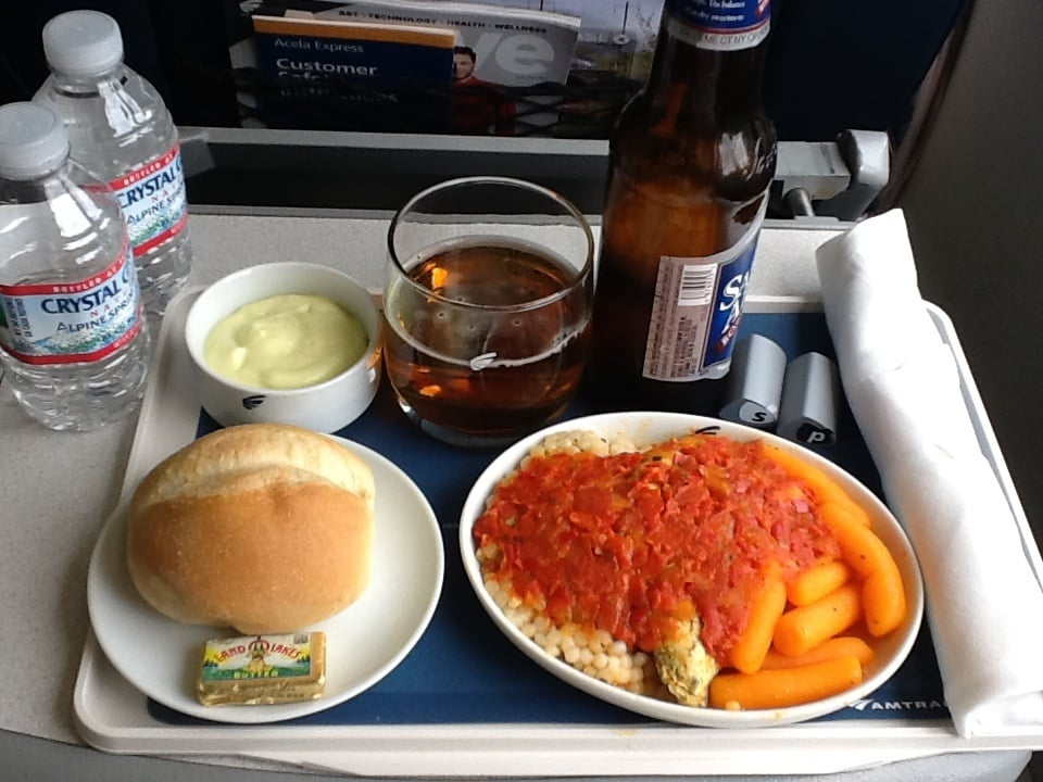 Acela First Class Food Review