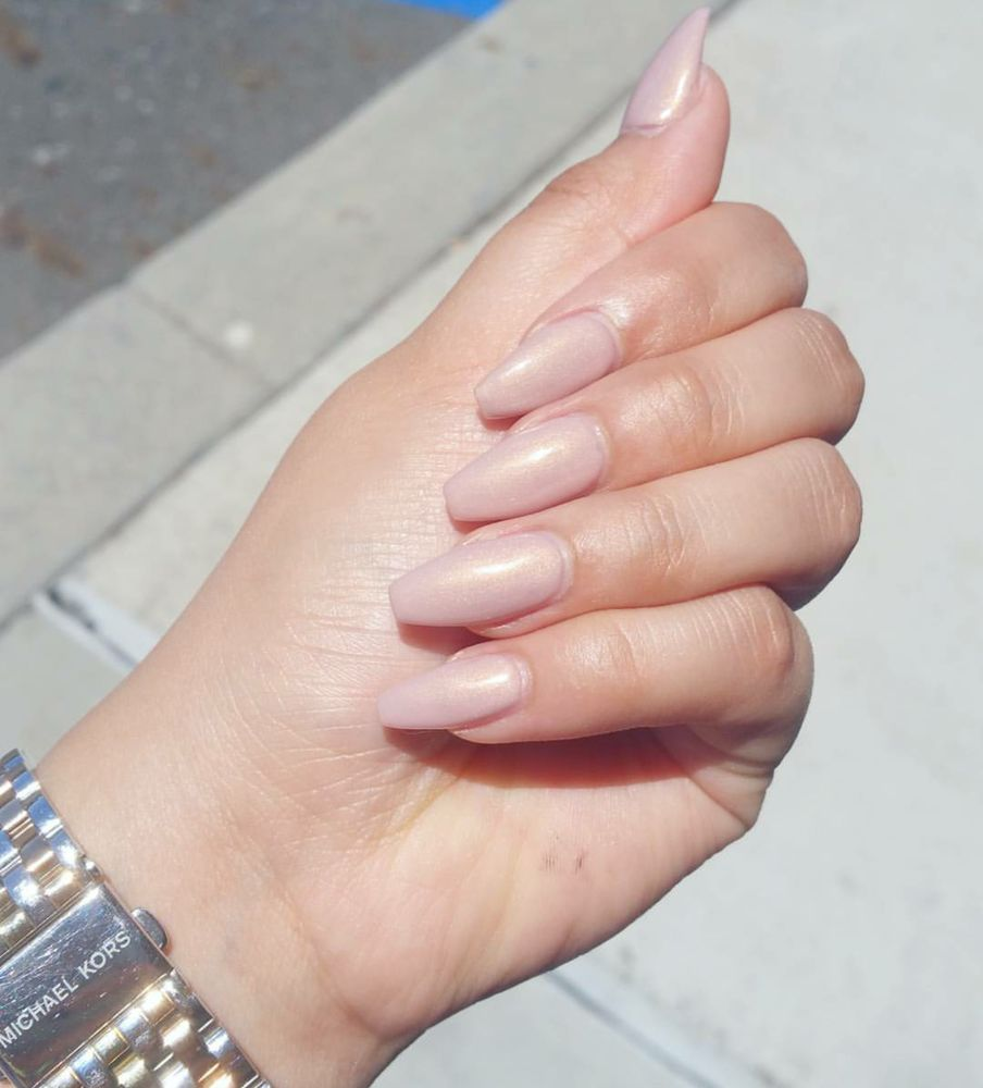 Nude pink with gold flecks (this picture doesnt do the justice) - Yelp