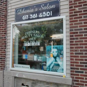 Photo of Dhenia's Salon - Hyde Park, MA, United States. Shop front
