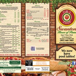 Swanton House Of Pizza 16 Reviews 32 Merchants Row Vt Restaurant Phone Number Menu Last Updated December 12