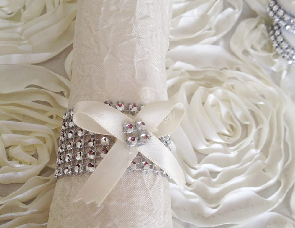 50 rhinestone napkin ring wedding napkin ring yelp