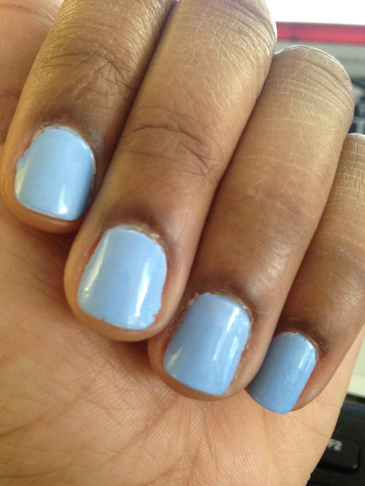 Worst Nail Job Ever!!!!!!!! Look at the edges, this is a JOKE! DO ...