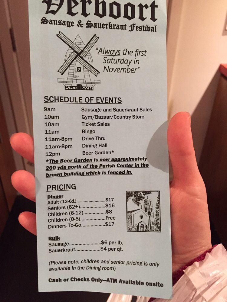 Verboort Sausage & Sauerkraut Festival: 4285 NW Visitation Rd, Forest Grove, OR
