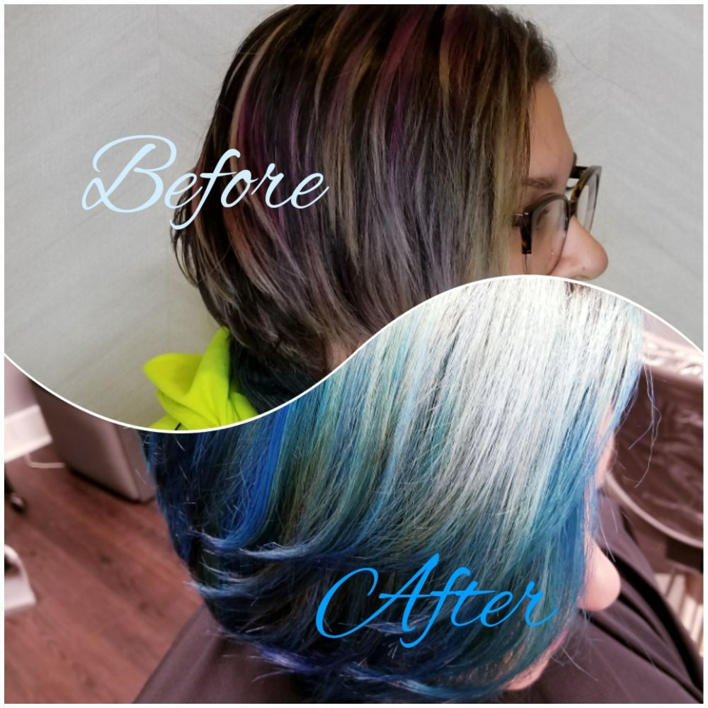Balayage Hair Twice To Strip Old Color Blues We Added Always Using