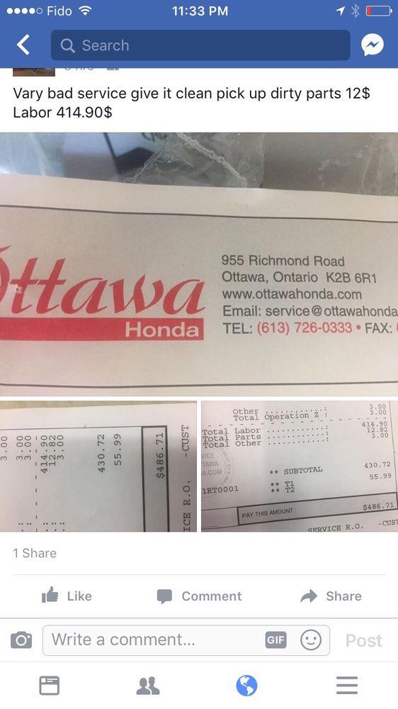 Ottawa honda 14 photos car dealers 955 richmond road for Honda 800 number