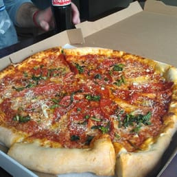 Crust - Cleveland, OH, United States. Our pepperoni pizza.. amazing!