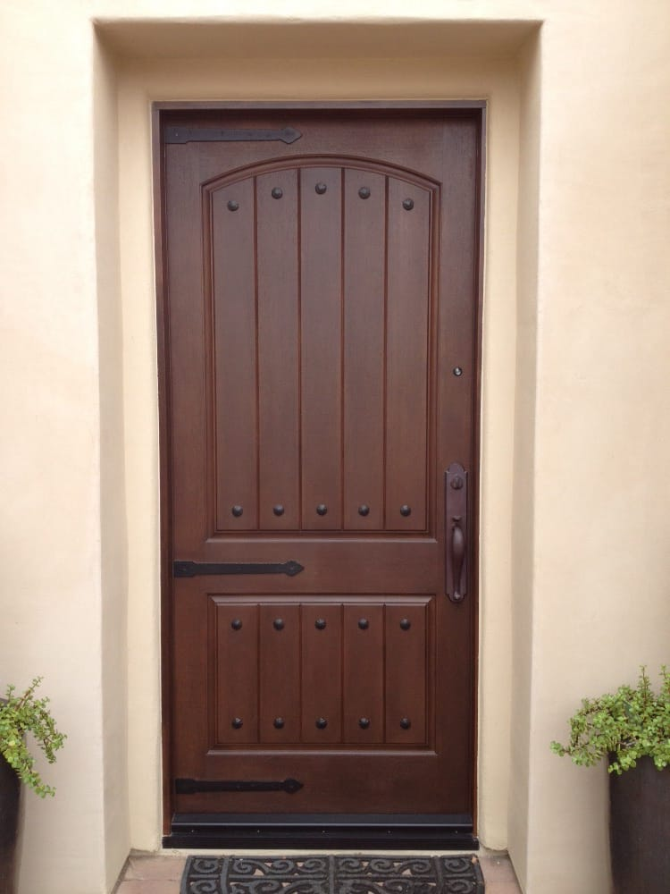 Thermatru Door Ccr8205 Stained Walnut Hinge Straps And