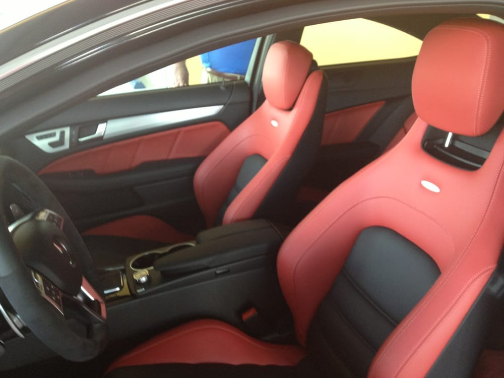 Loooooveeeee the red seats yelp for Mercedes benz gainesville fl