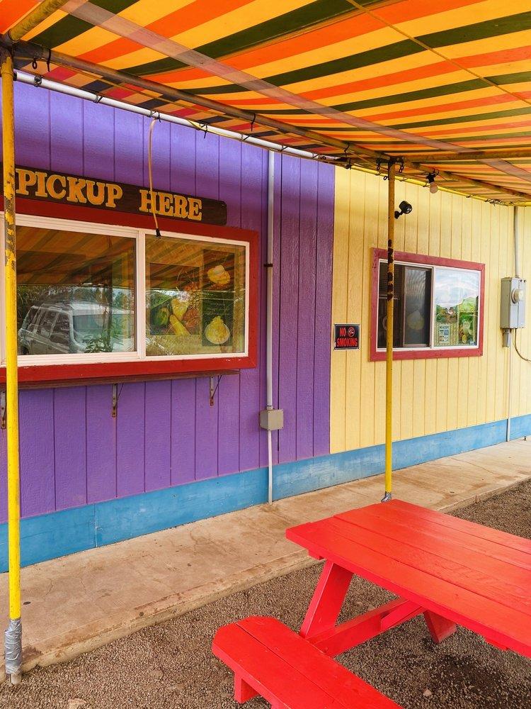 Rainbow House Shave Ice: 56-931 Kamehameha Hwy, Kahuku, HI