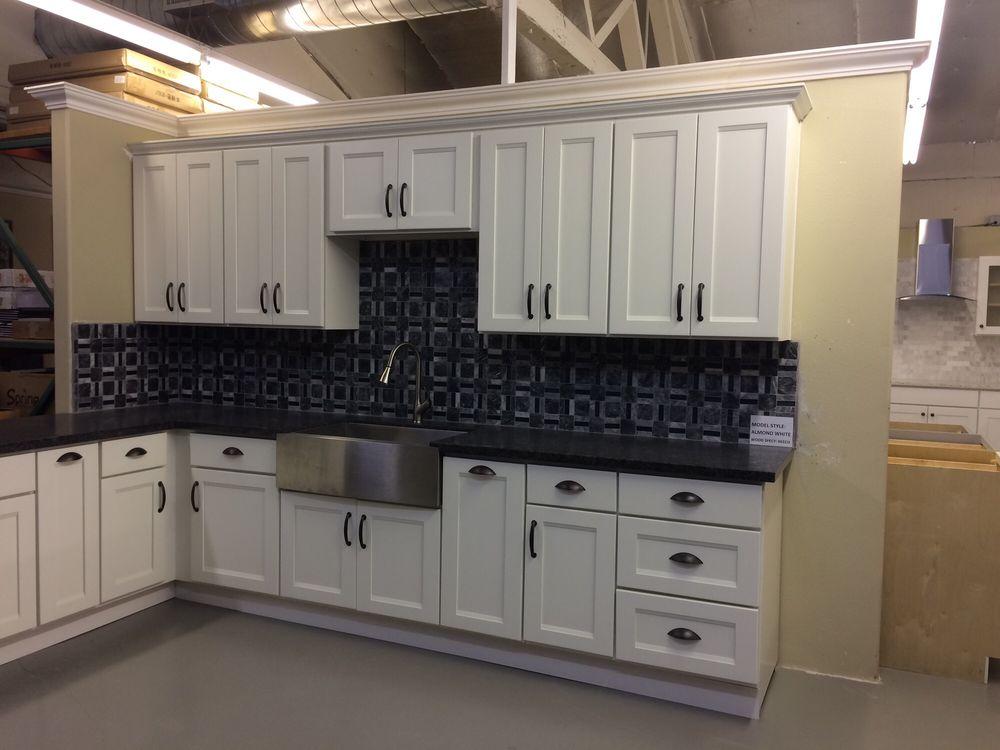 Almond white cabinet - Yelp