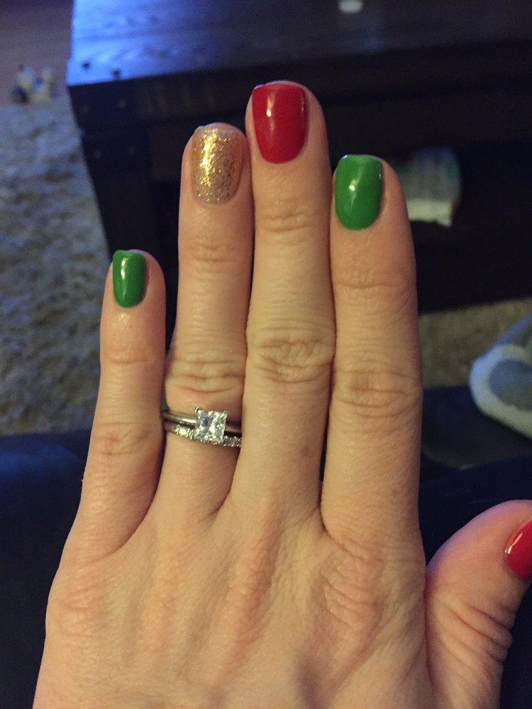 Christmas nails. Katie did an amazing job! - Yelp