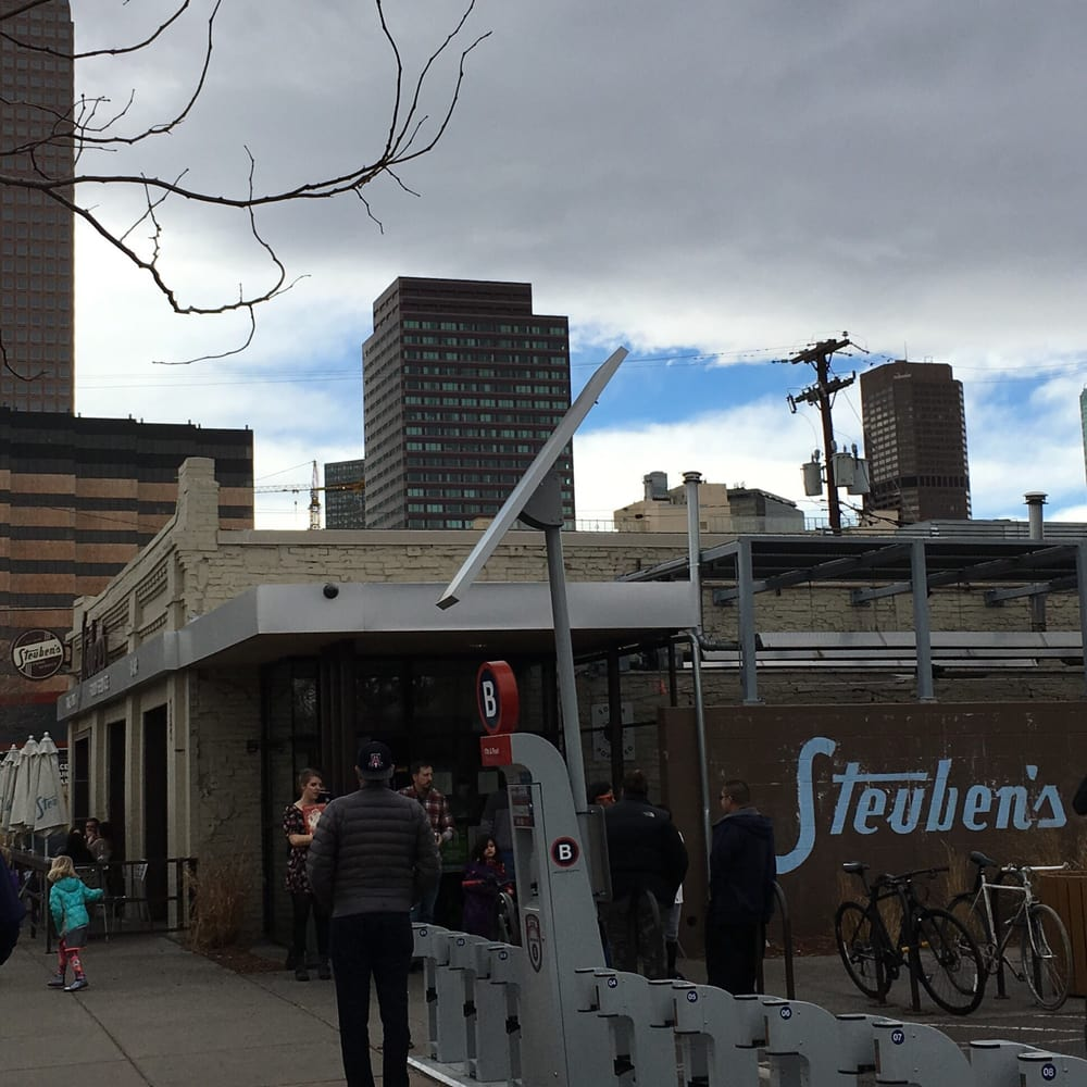 Steuben's Food Service - Denver, CO, United States. Outside with a small parking lot, but parking on the street as well.