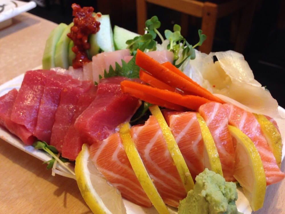 18 sashimis squeezed in a really small plate yelp for Akasaka japanese cuisine