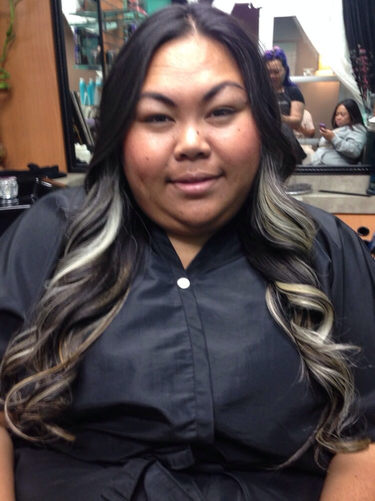 Ash Blonde To Platinum Blonde On Asian Hair Peek A Boo Highlights Yelp