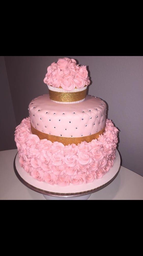 Birthday Cake Buttercream Roses And Edible Diamonds Yelp