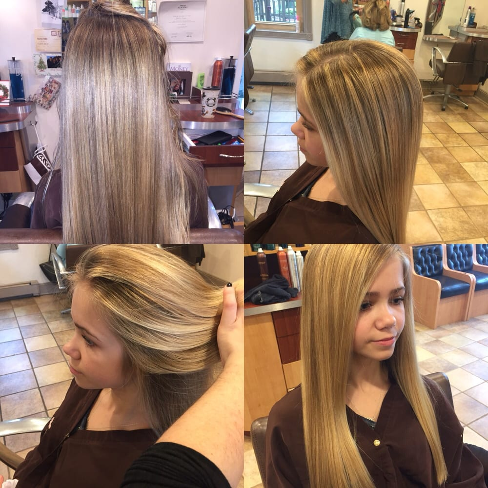 Half head of balayage highlights