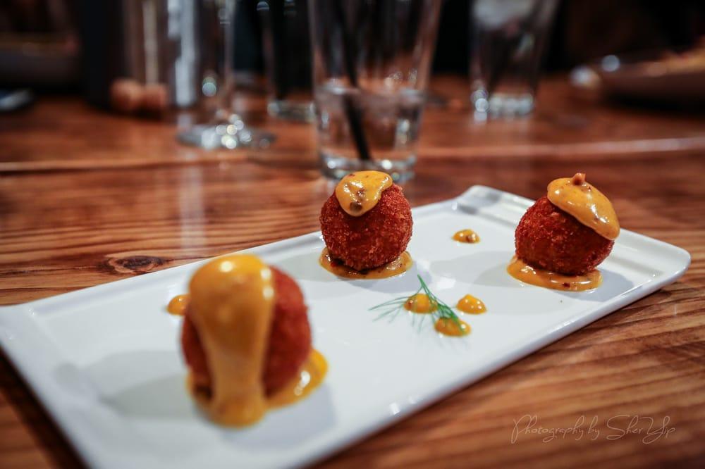 Potato sausage croquette yelp for Table 9 morgantown