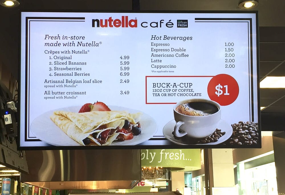2 Lattes Nutella Cafe In Sobeys