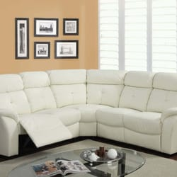 Photo Of Comfy Furniture   Irving, TX, United States. White Leather  Reclining Contemporary