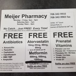 meijer pharmacy drugstores 15701 71st ct orland park il