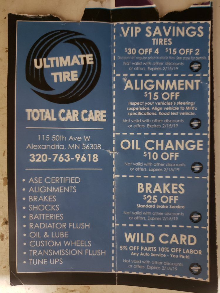 Ultimate Tire and Total Car Care: 115 50th Ave W, Alexandria, MN
