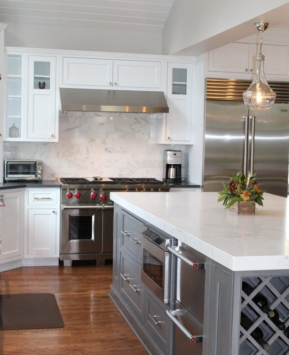 Kitchen remodel with stainless steel appliances in the ...