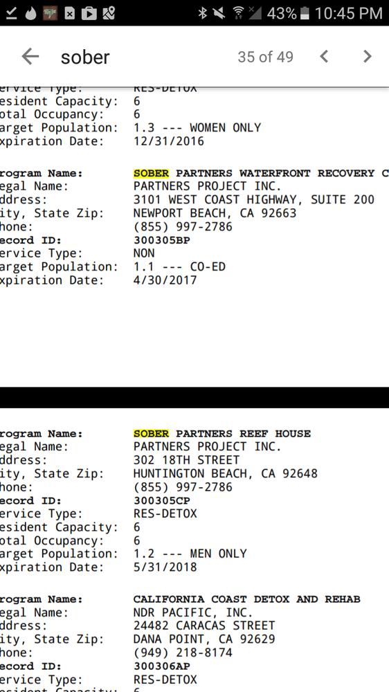 Sober Partners Network   Rehabilitation Center   3419 Via Lido, Newport  Beach, CA   Phone Number   Yelp