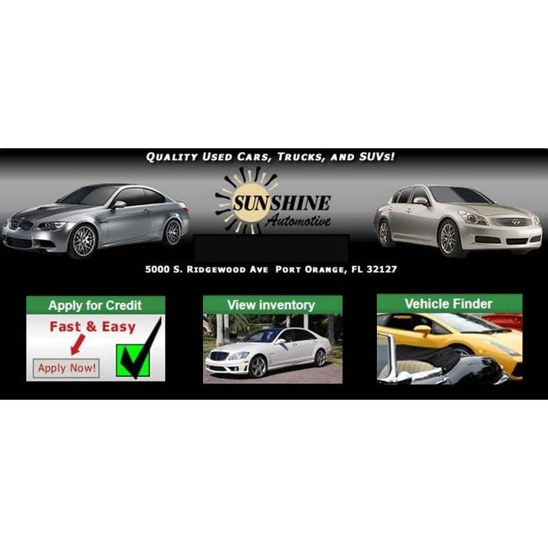 Sunshine Automotive   Auto Loan Providers   5000 S Ridgewood Ave, Port  Orange, FL   Phone Number   Yelp