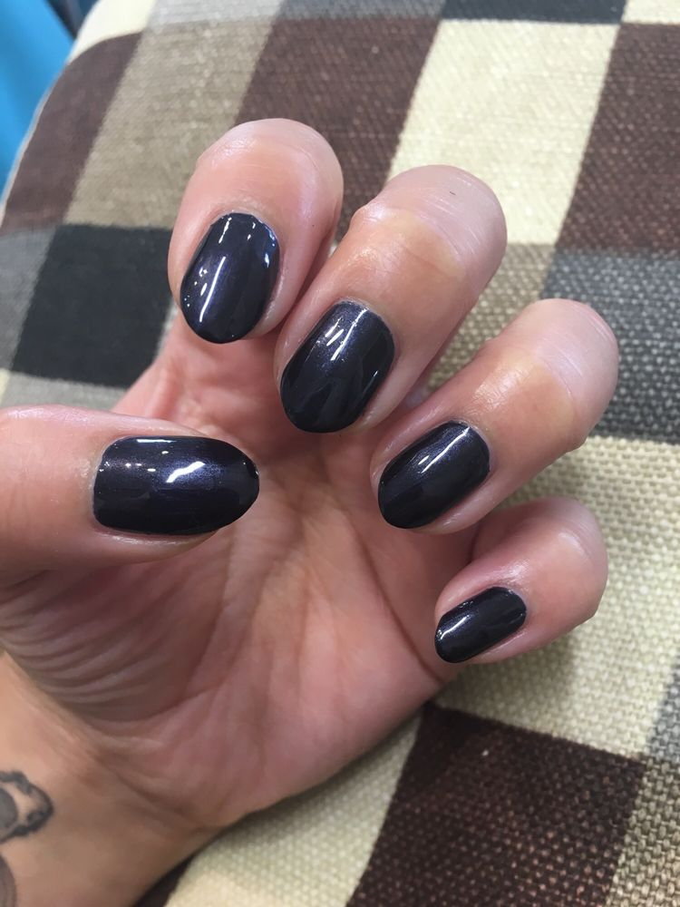 Almond shaped nails and classic mani - Yelp