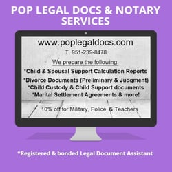POP Legal Docs Notary Services Divorce Family Law - Law docs