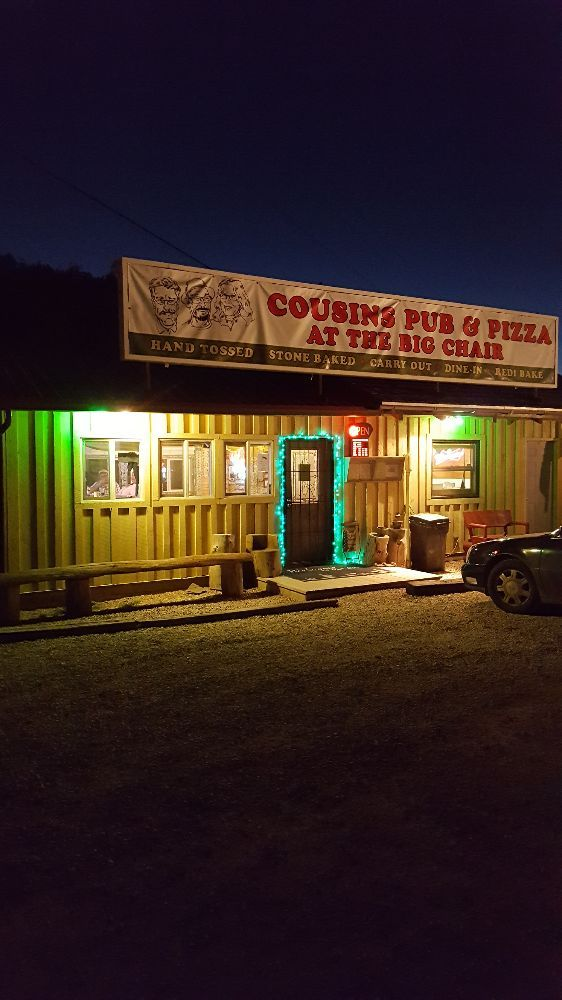 Cousins Pub and Pizza at the Big Chair: 22493 US Hwy 385, Deadwood, SD