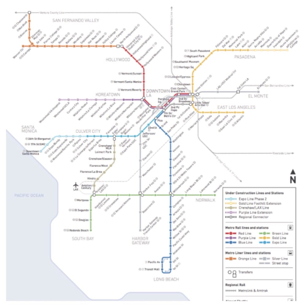 Los Angeles Subway Map New.The New Map Yelp