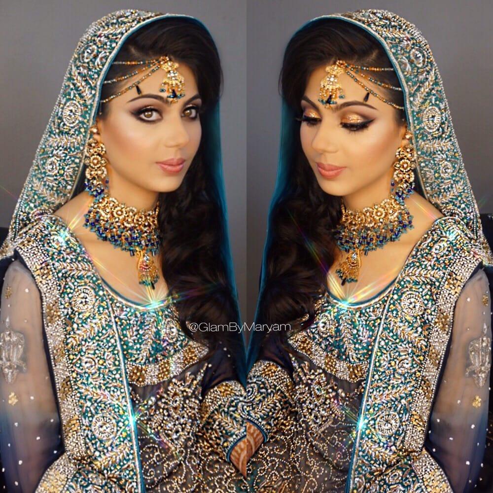 desi ( pakistani bride ) hair , makeup , dupatta ( vail ) setting
