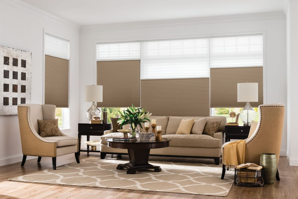For Total Coverage Pair Cordless Cellular Shades With