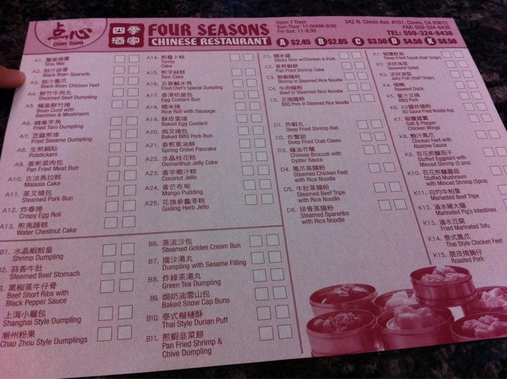 Four Seasons Chinese Food Winnipeg