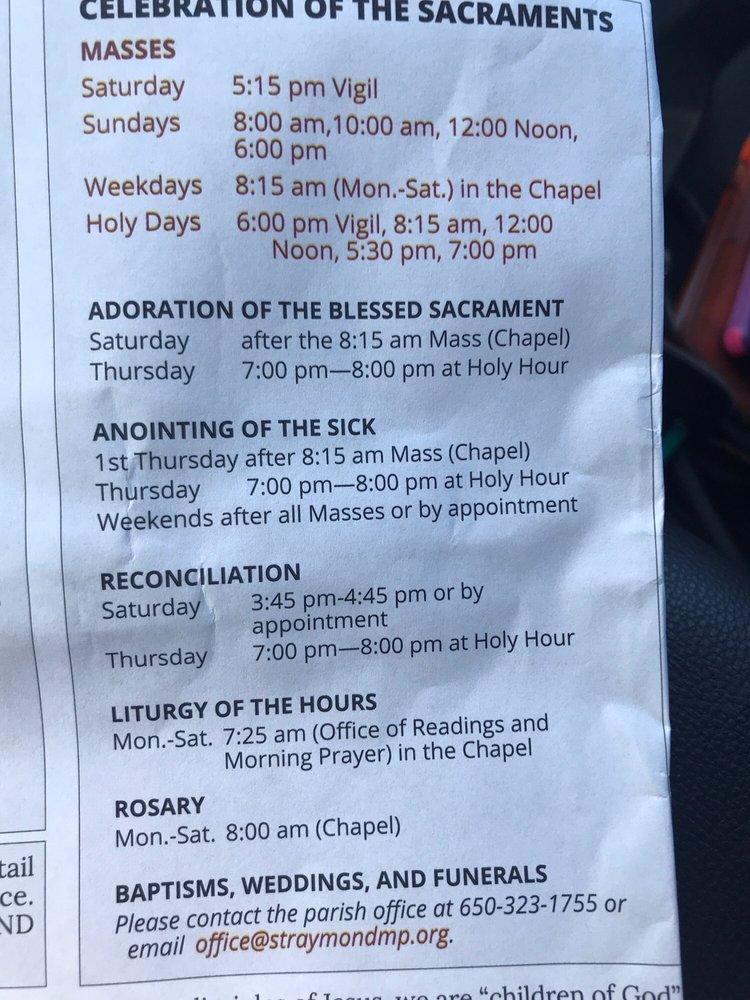 St. Raymond Catholic Church: 1100 Santa Cruz Ave, Menlo Park, CA