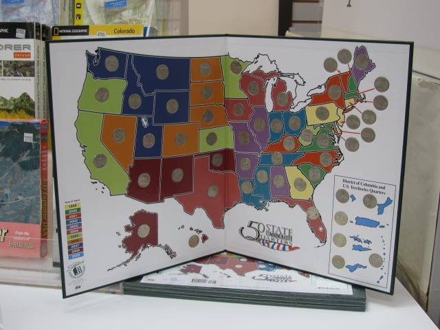 The US Quarter Mapwe also offer the maps for holding the