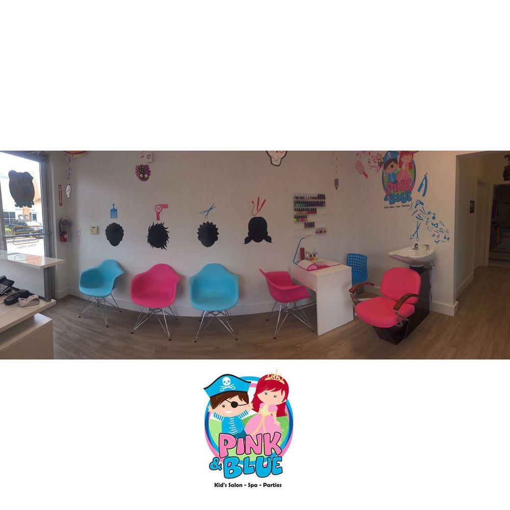 Pink blue kids salon ha sido dise o para que la - Salones de diseno ...