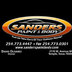 sanders paint body body shops 2110 w ave m temple