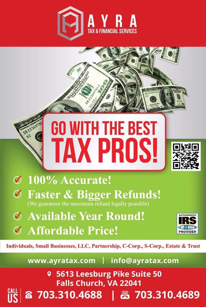 Ayra Tax & Finanacial Services: 5613 Leesburg Pike, Falls Church, VA