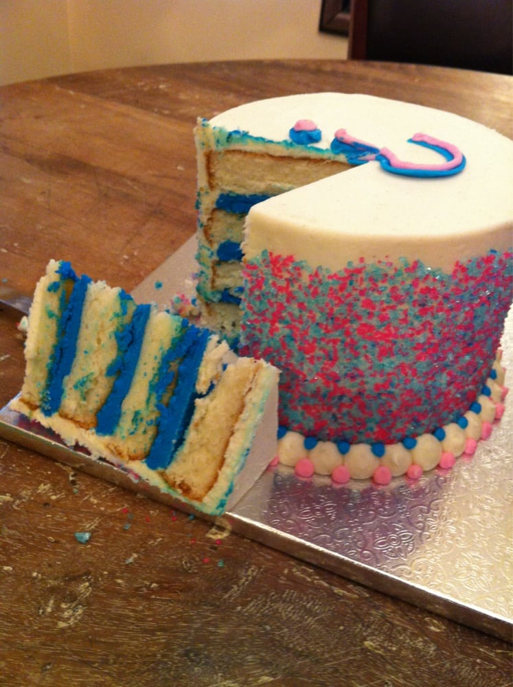 Gender Reveal Cake Bakersfield