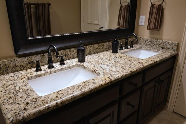 Install New Vanity Granite Counter Undermounted Sink