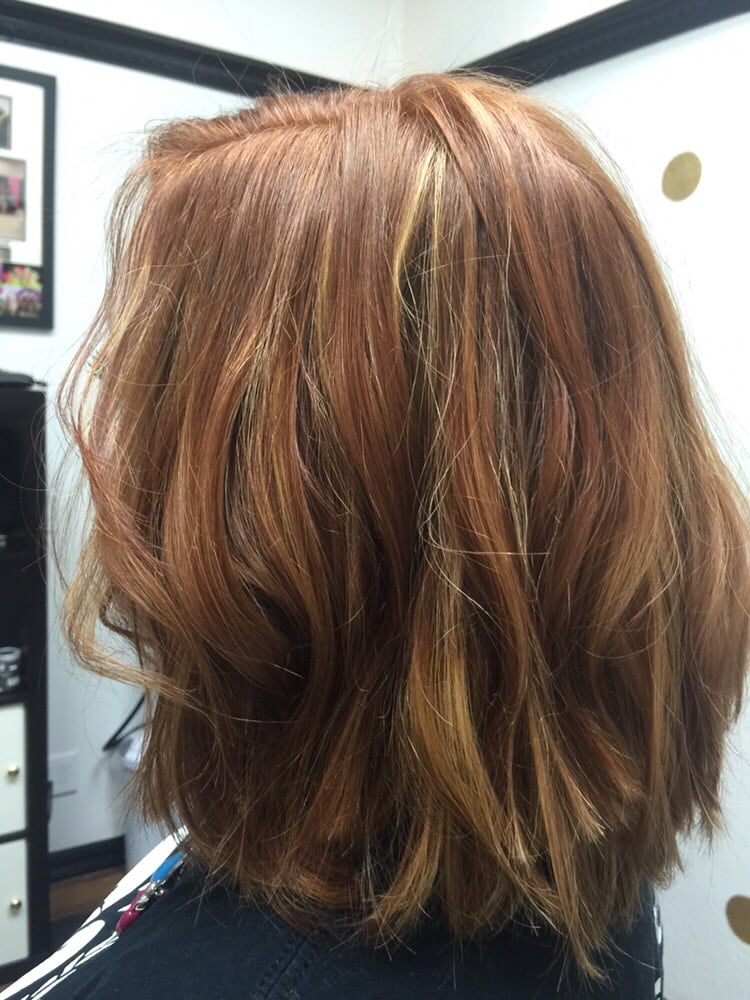 Awesome Red Hair With Balayage Blond On A Choppy Bob Yelp