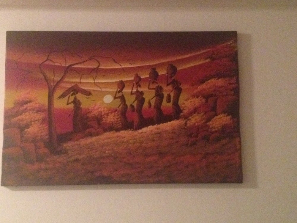 Oil painting from Zimbabwe that needed stretching - Yelp
