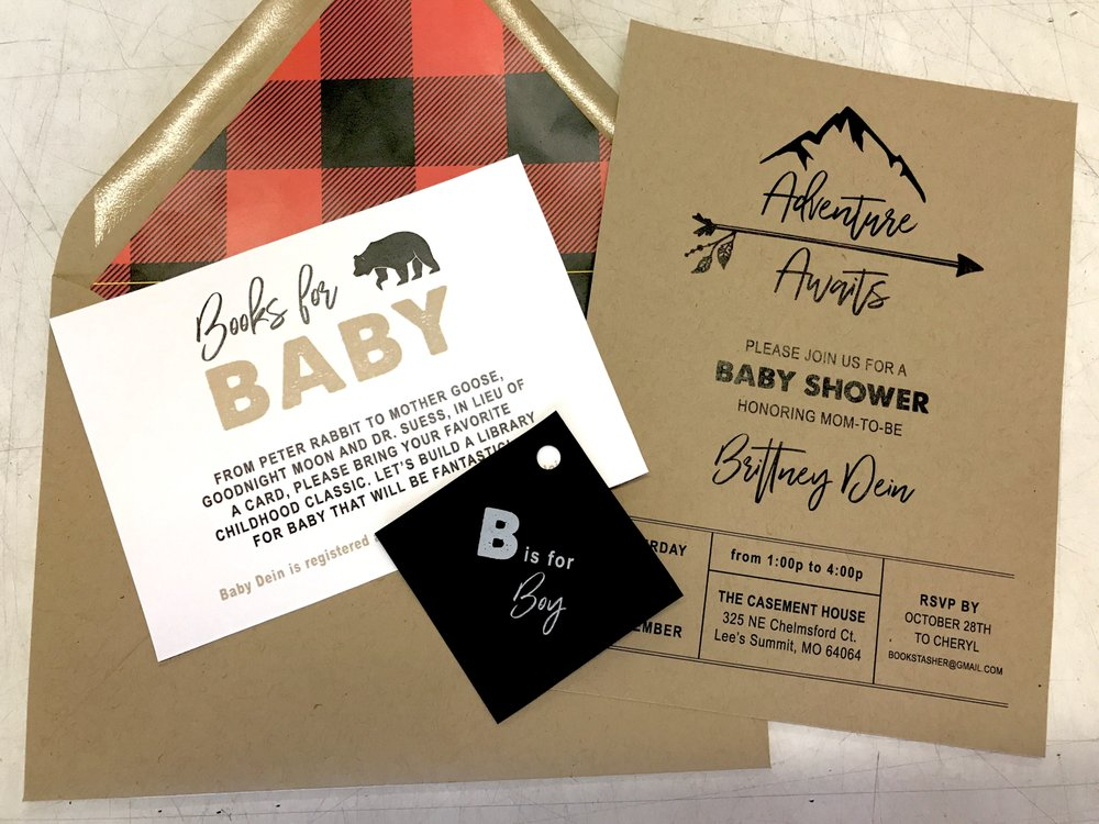 baby shower invites printed via arnold s print shop turned out