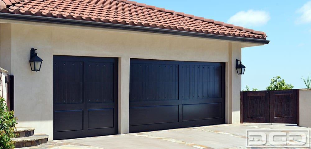 Custom Ipe Garage Door With Asymmetrical Windows With Tinted Glass And  Silver Steel Frames. Custom Made Garage Door Design For A Modern Home   Yelp