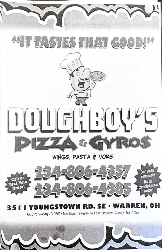 Doughboy's Pizza & Gyros: 3511 Youngstown Rd SE, Warren, OH